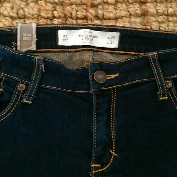 9bcd620d6d9 Abercrombie & Fitch Denim - Abercrombie & Fitch dark indigo boot cut jeans